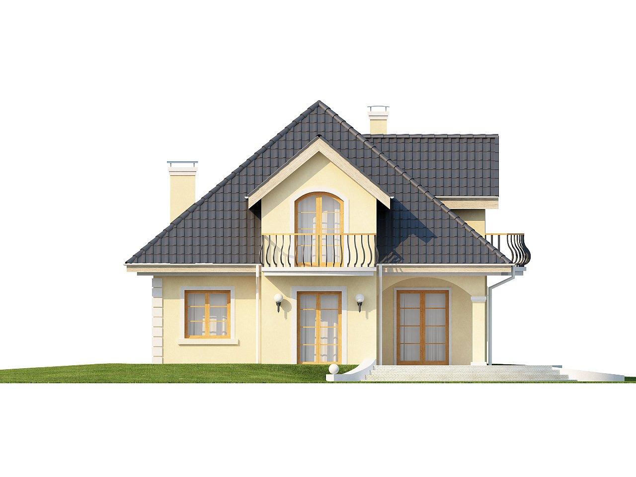 Проект изысканного классического дома с мансардой. 4