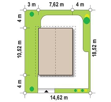 Выгодный в строительстве и эксплуатации двухэтажный дом простой формы. план помещений 1