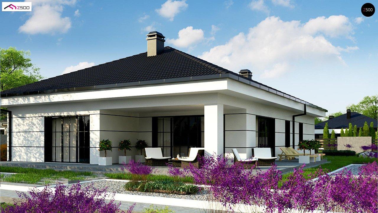 Современный одноэтажный дом с тремя спальнями и гаражом на одну позицию. - фото 1