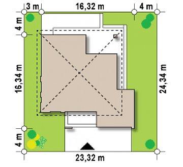 Проект комфортабельного двухэтажного коттеджа современного дизайна план помещений 1
