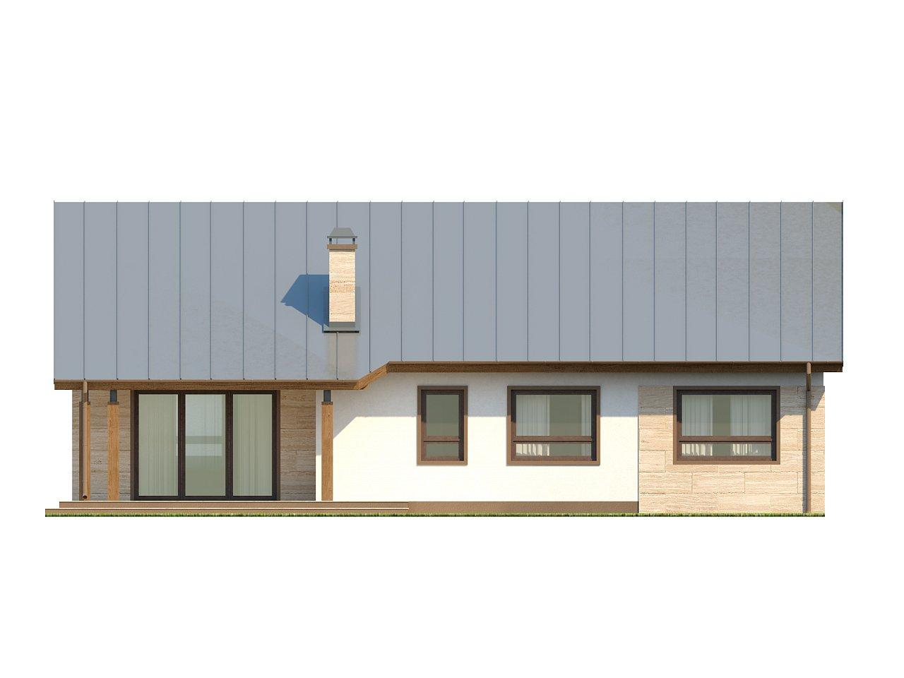 Проект выгодного одноэтажного дома с возможностью адаптации чердачного помещения. 17