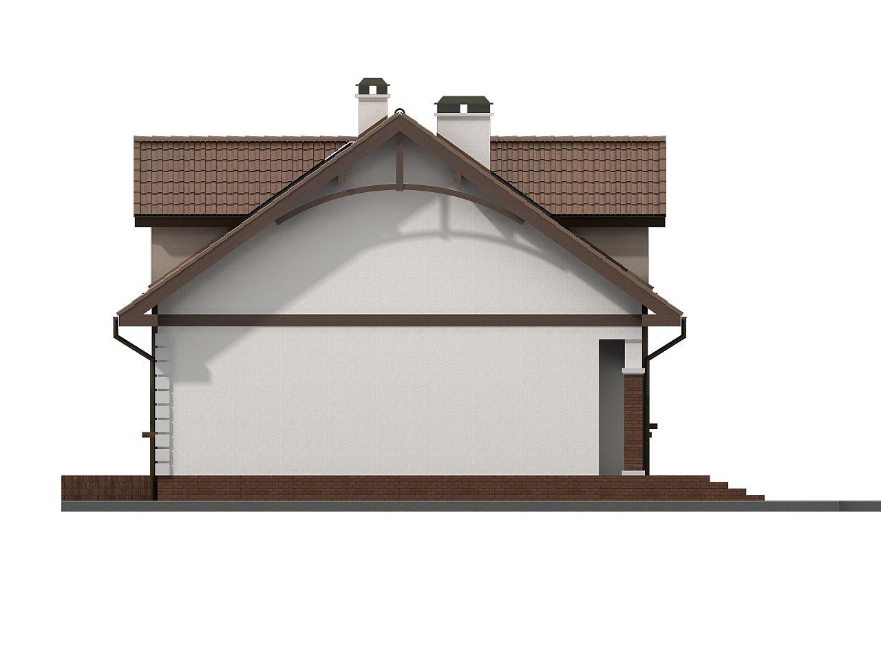 Элегантный дом с мансардой, эркером и балконом над ним. 6