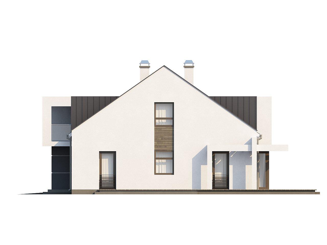 Современный дом с уютным и функциональным интерьером. Интересное сочетание двускатной крыши и кубических форм. - фото 25