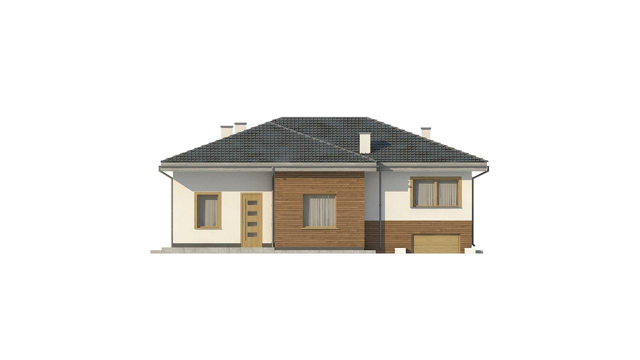 Красивый и комфортный однэтажный дом с цоколем 6