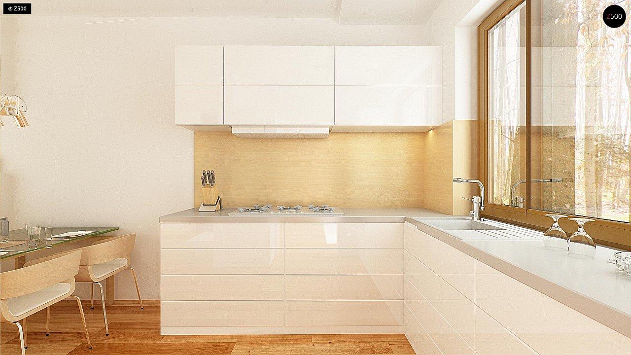 Простой и недорогой в строительстве одноэтажный дом небольшой площади. 9