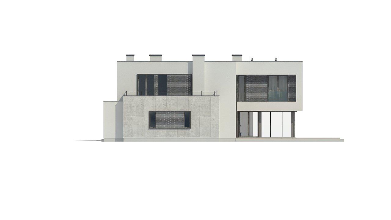 Современный двухэтажный дом с просторной террасой и гаражом на две машины. - фото 14