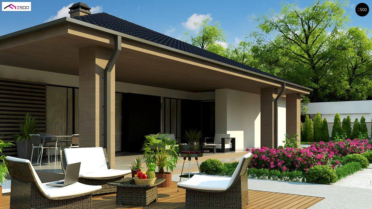 Компактный одноэтажный дом стильного дизайна 5