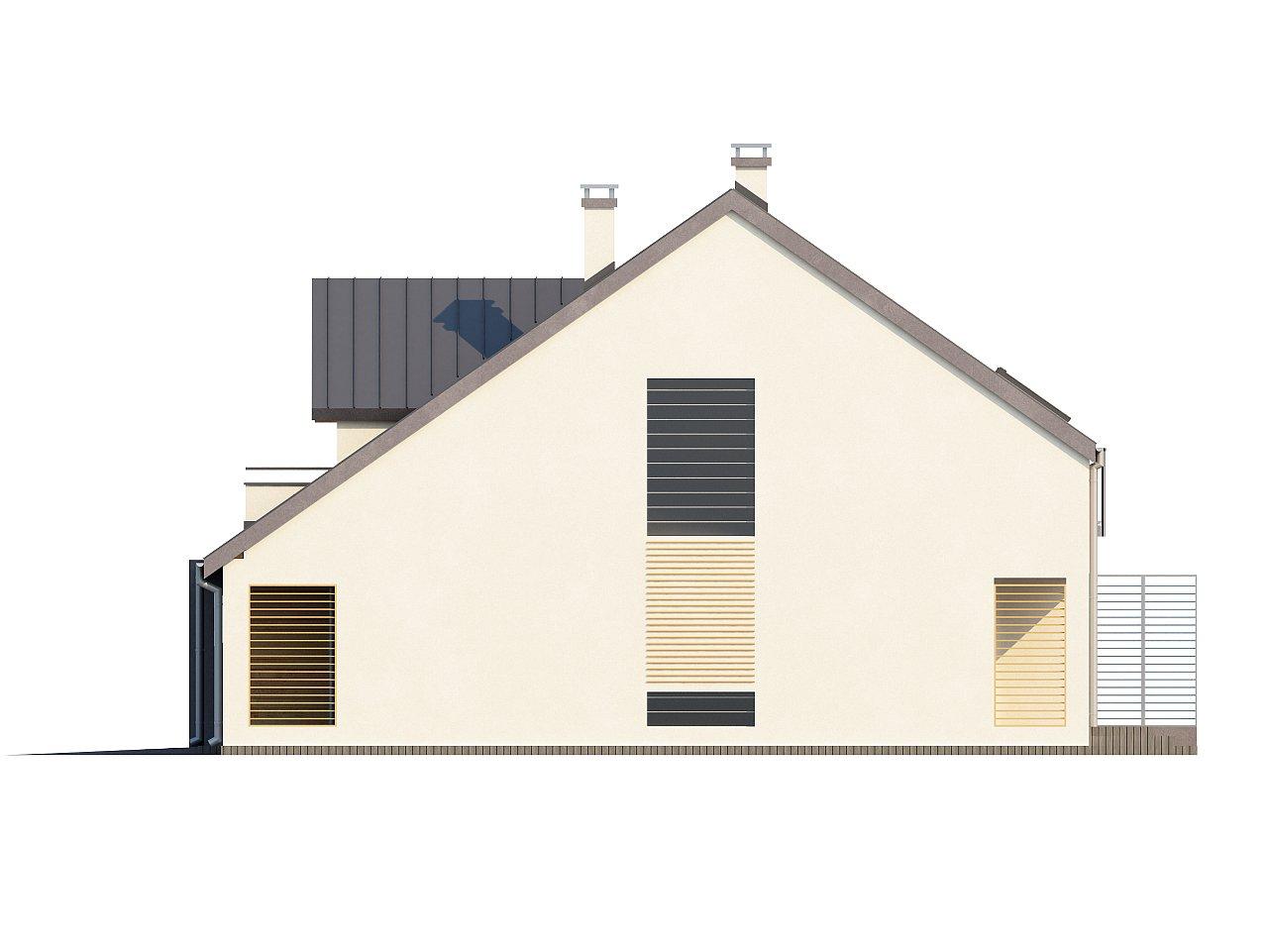 Проект стильного, функционального и недорогого двухсемейного дома. 24