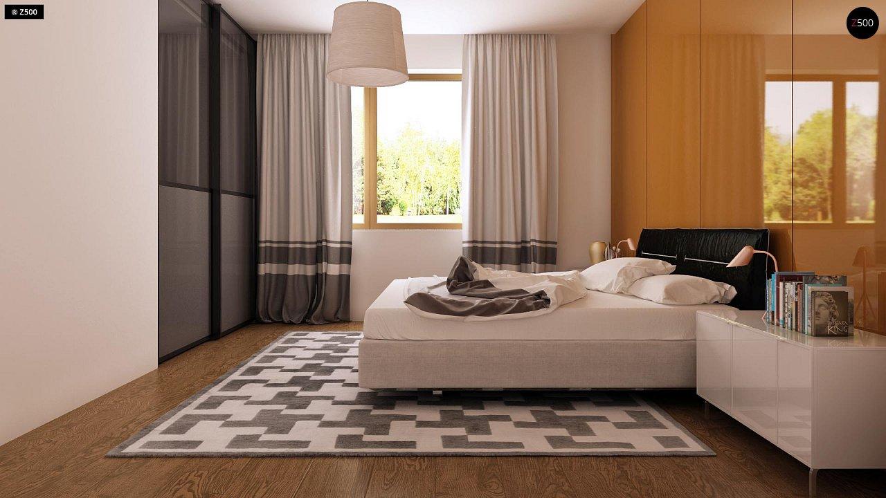 Функциональный одноэтажный дом с современными элементами отделки фасадов. - фото 10
