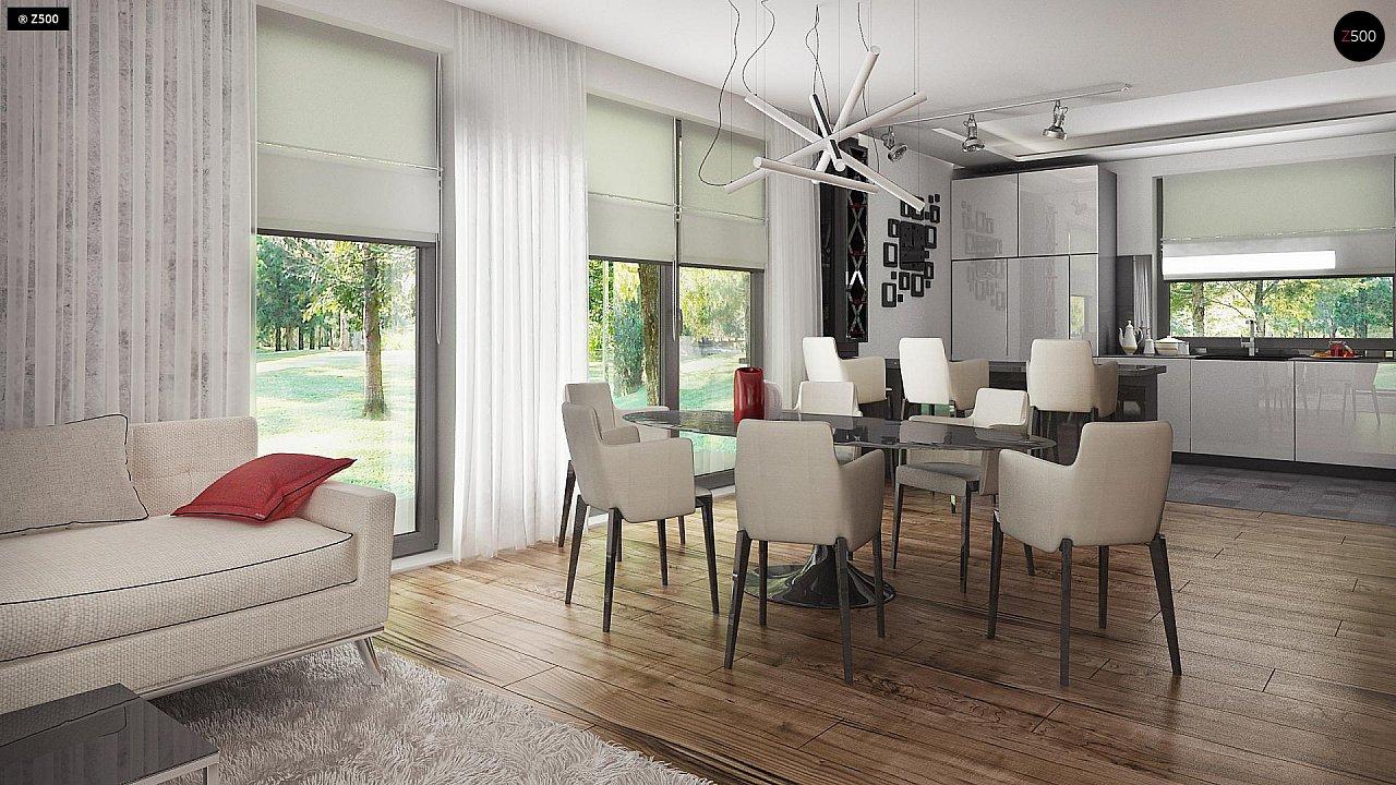 Проект стильного одноэтажного дома с функциональной планировкой - фото 11