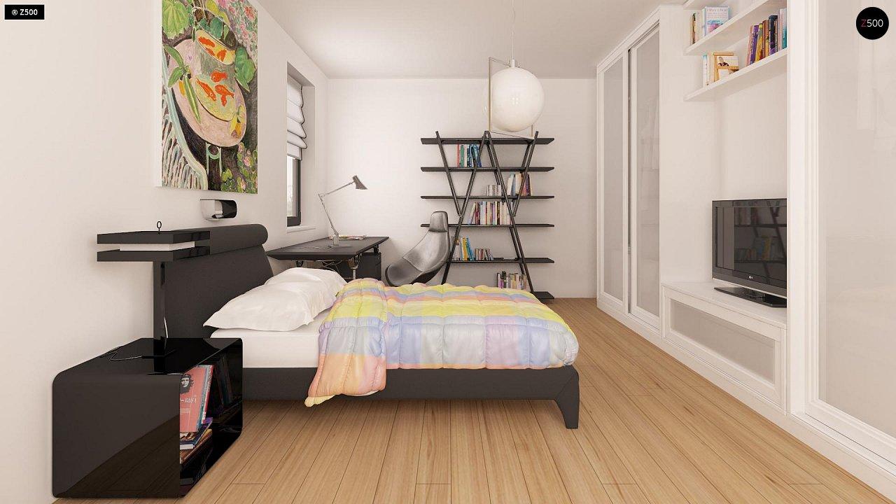 Практичный одноэтажный дом с гаражом для двух автомобилей и большим хозяйственным помещением. 12