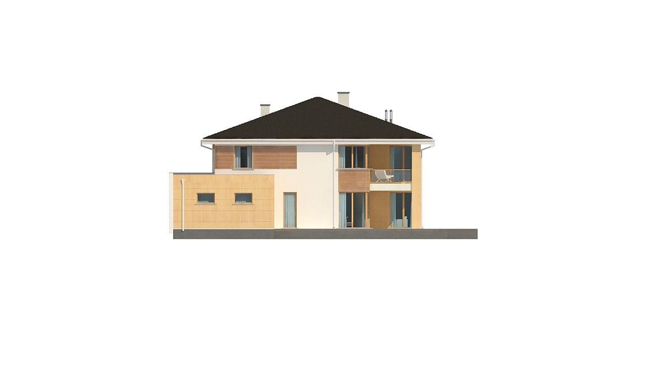 Проект комфортабельного двухэтажного коттеджа современного дизайна 8