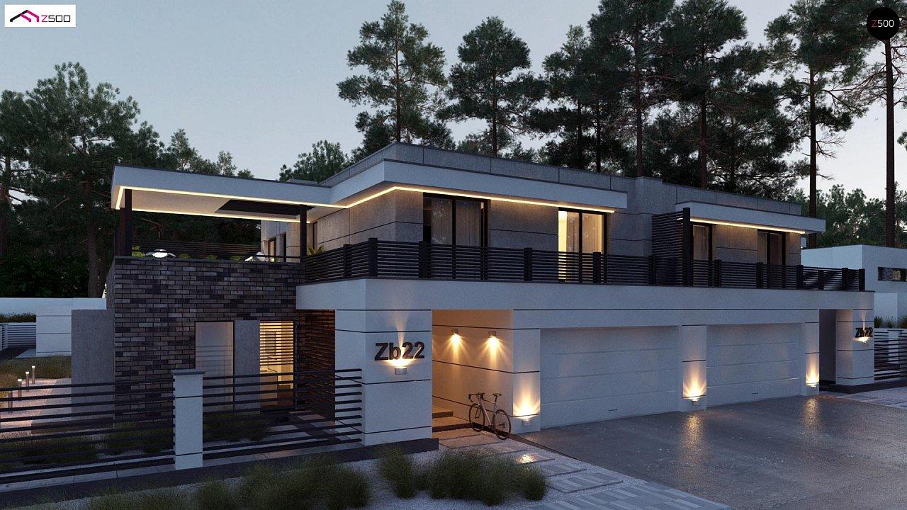 Современный большой дом с плоской крышей - фото 2