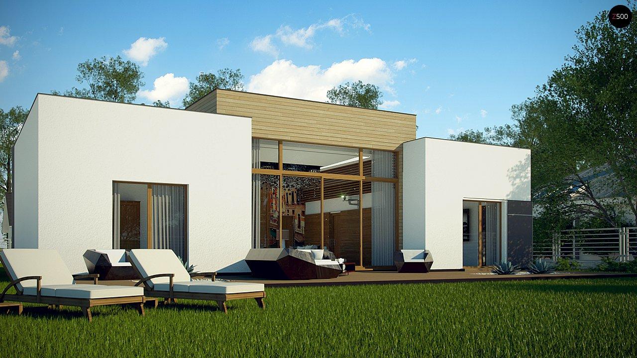 Одноэтажный дом в стиле современного минимализма 3