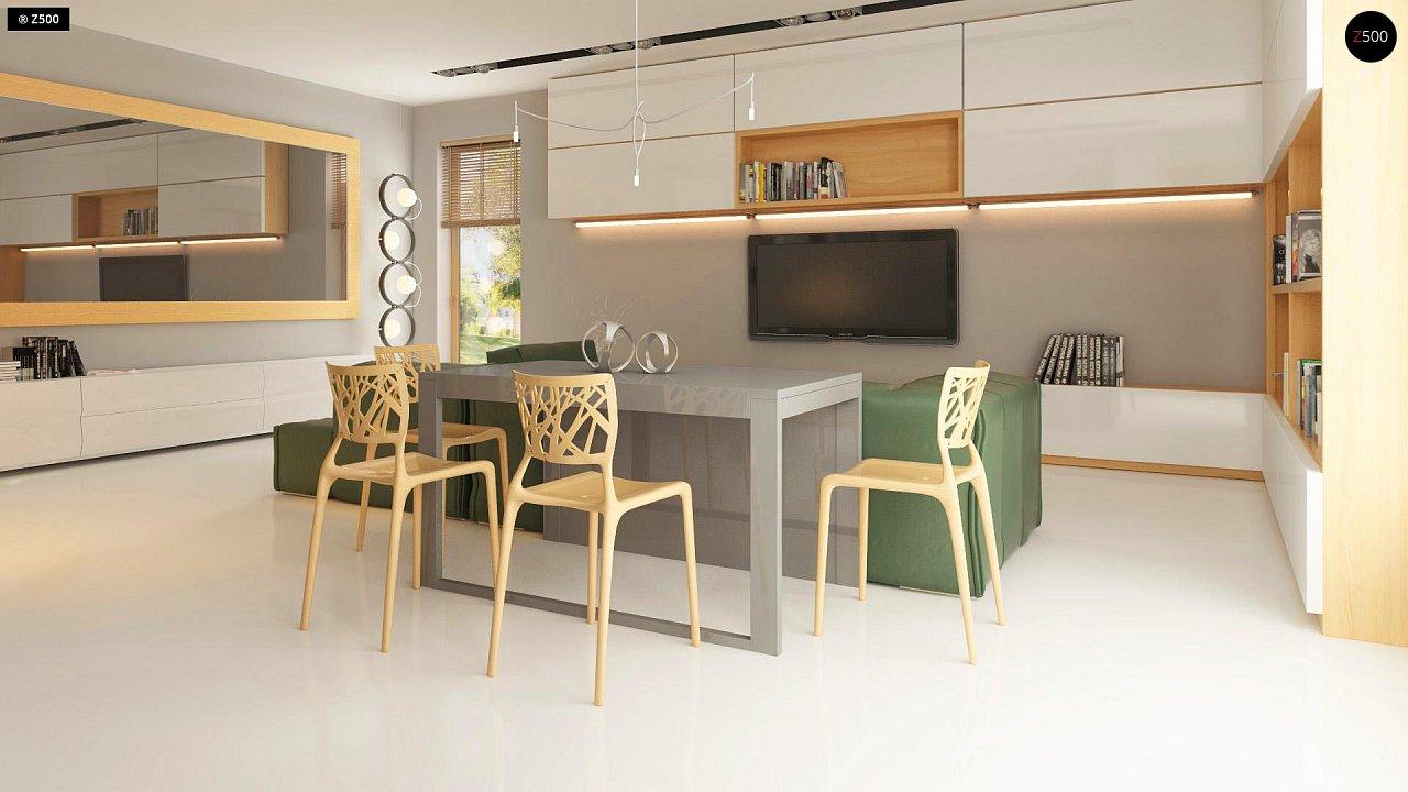Прекрасное сочетание строгих минималистичных форм и уютного практичного интерьера. 9