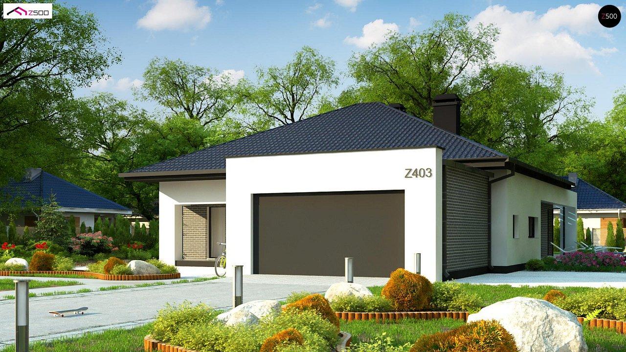 Одноэтажный дом с четырьмя спальнями и гаражом на два автомобиля - фото 5
