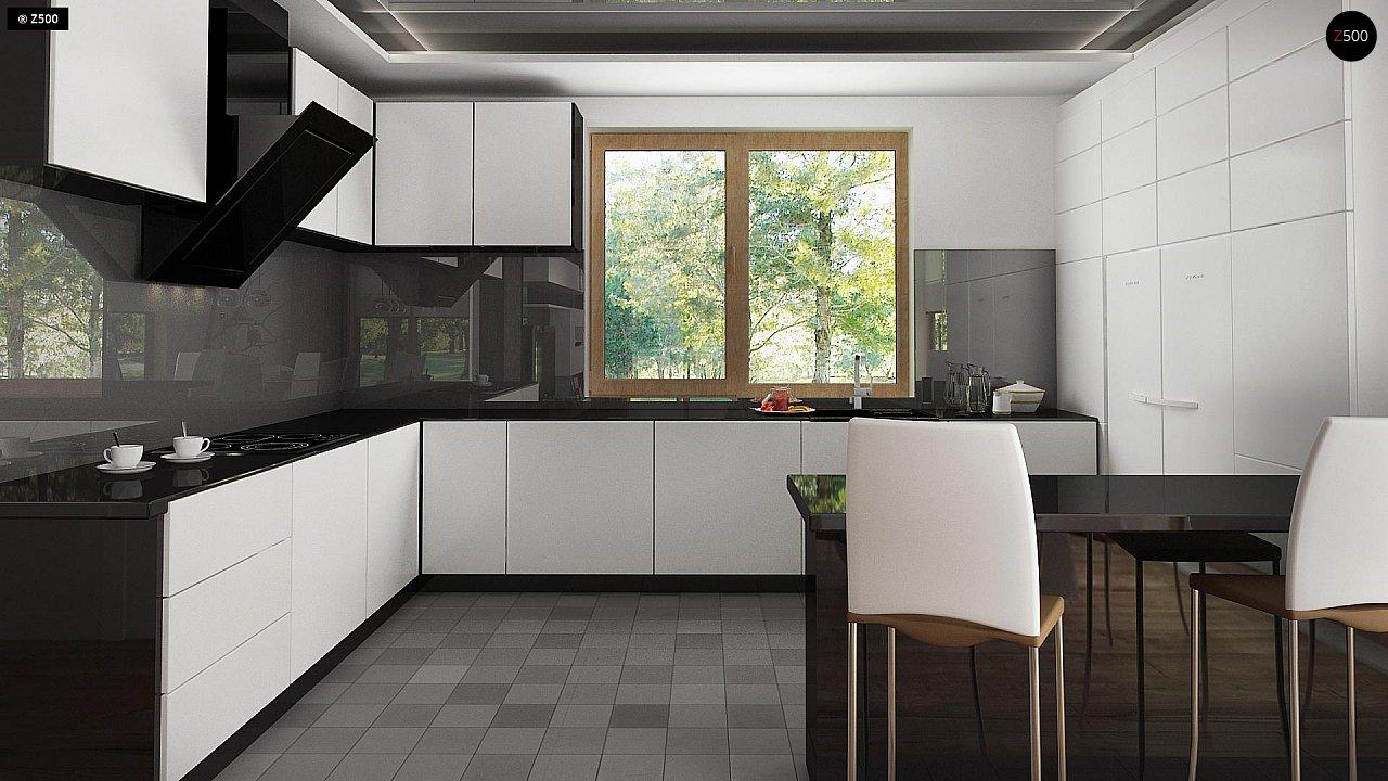 Проект комфортного дома с большим гаражом и дополнительной спальней на первом этаже. 8