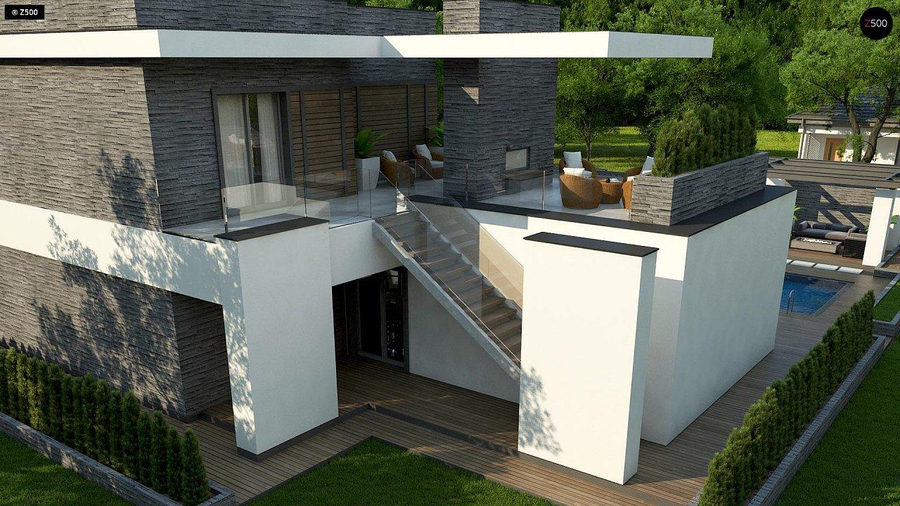 Стильный дом в современном стиле с просторной террасой на втором этаже. 6