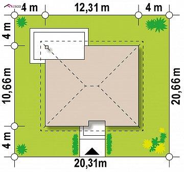 Проект стильного одноэтажного дома в классическом стиле. план помещений 1
