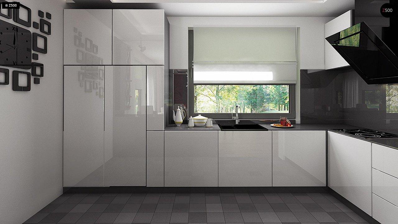 Проект стильного одноэтажного дома с функциональной планировкой - фото 13