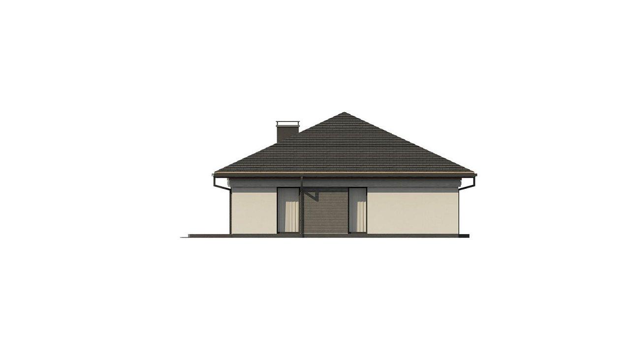 Прекрасный одноэтажный дом в современном стиле и гаражом на одну машину. - фото 9