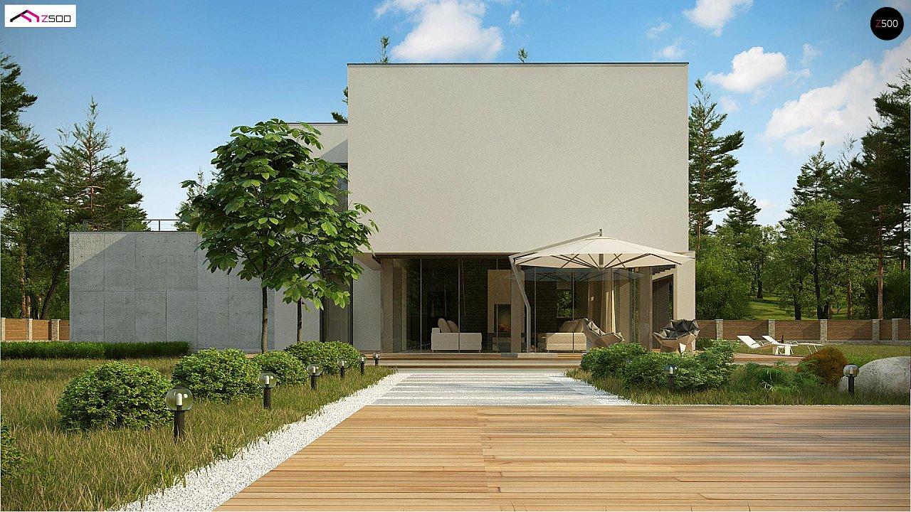 Современный двухэтажный дом с просторной террасой и гаражом на две машины. - фото 3