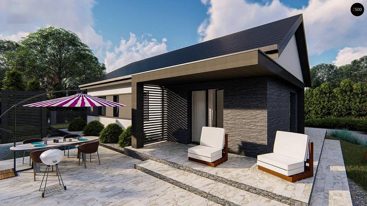 Классический одноэтажный дом с двускатной крышей 5