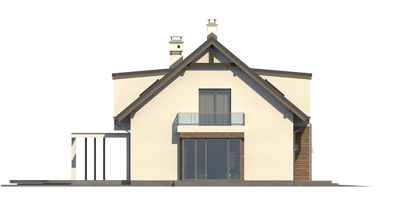 Стильный дом с оригинальными мансардными окнами, с гаражом и кабинетом на первом этаже. - фото 6