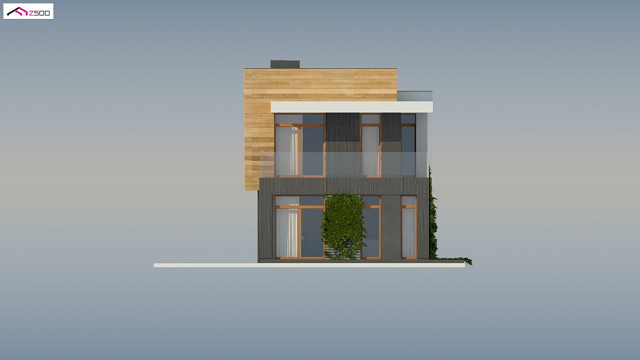 Проект двухэтажного дома в стиле кубизм, подходит для строительства на узком участке. - фото 7