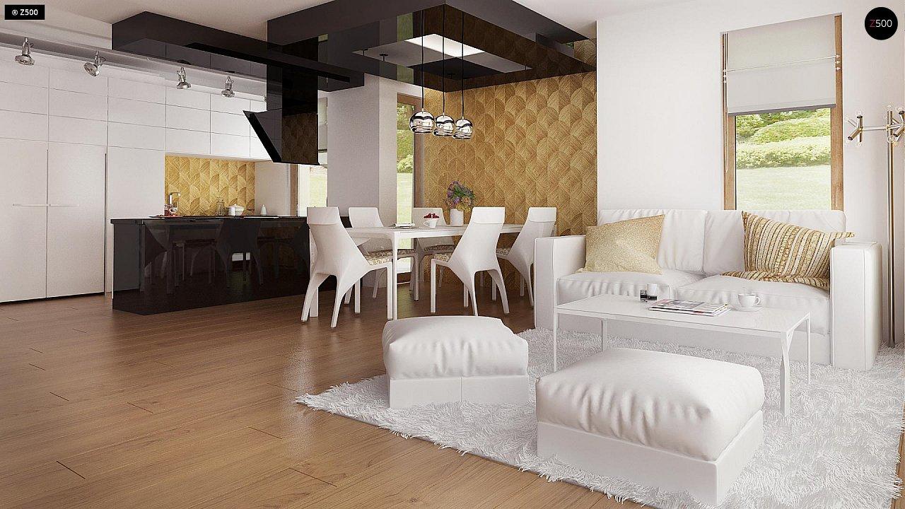 Одноэтажный комфортный дом в стиле хай-тек. 16