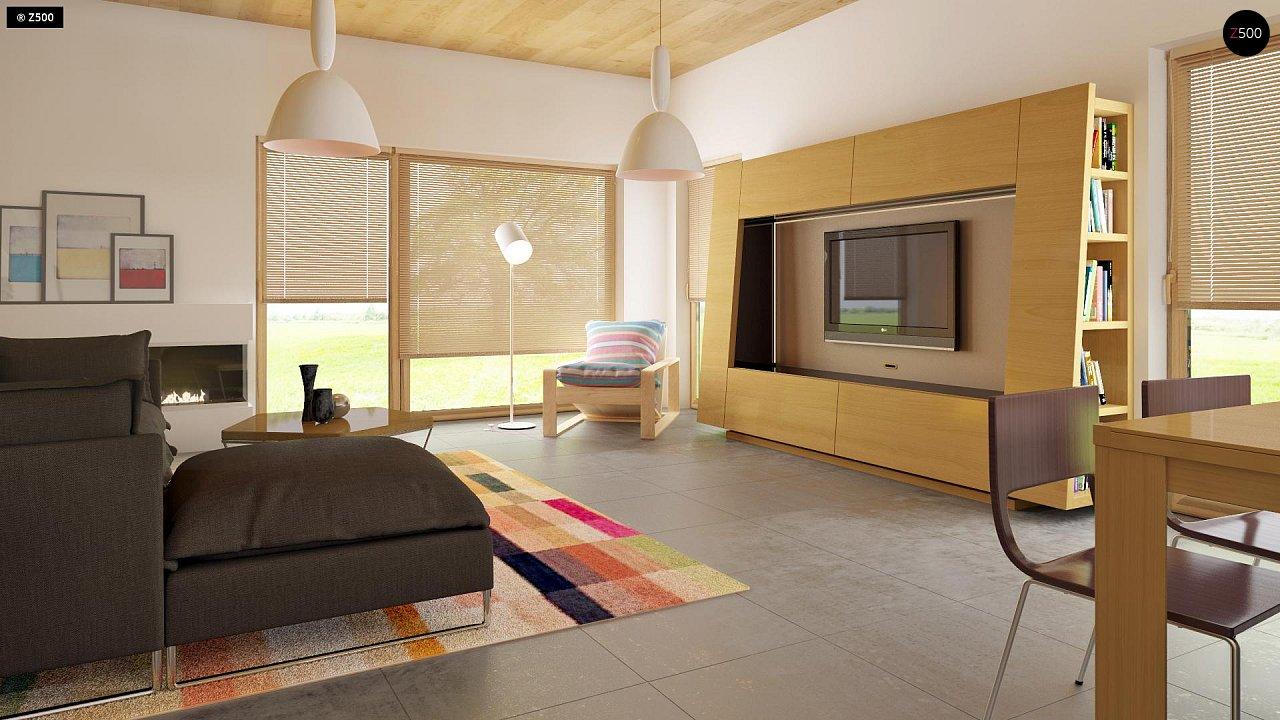Комфортный современный дом с гаражом для двух авто и обширной террасой на втором этаже. - фото 8