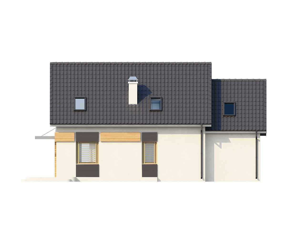 Проект дома с гаражом, с возможностью его использования в качестве двухсемейного. 4