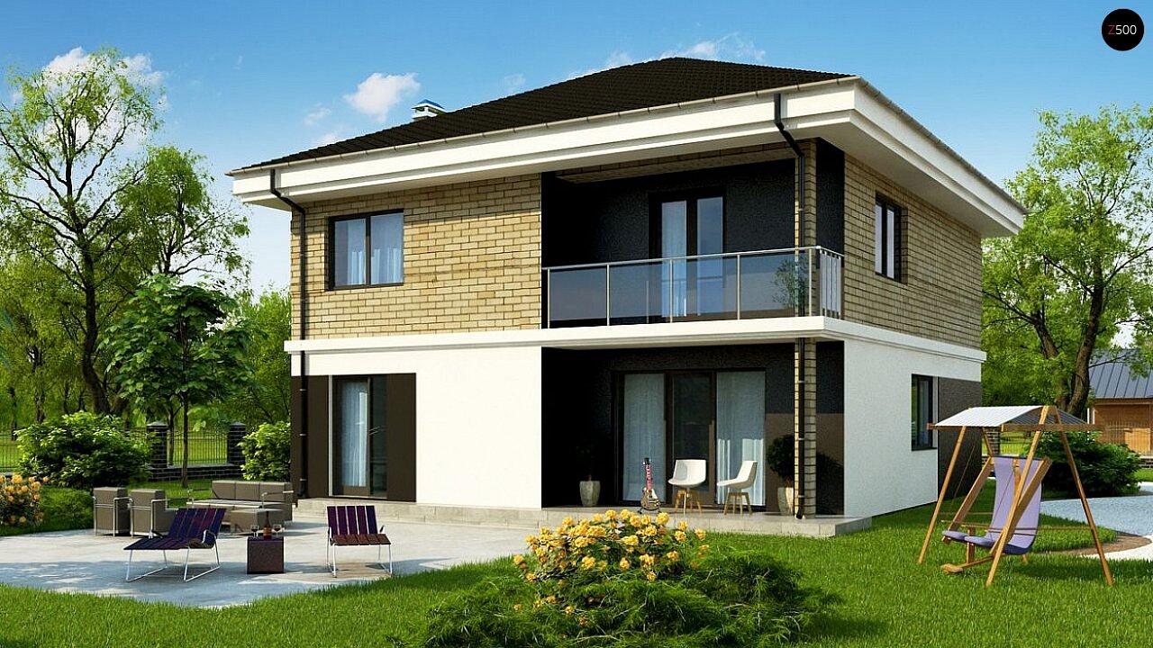 Вариант двухэтажного дома Zz1a с плитами перекрытия 2