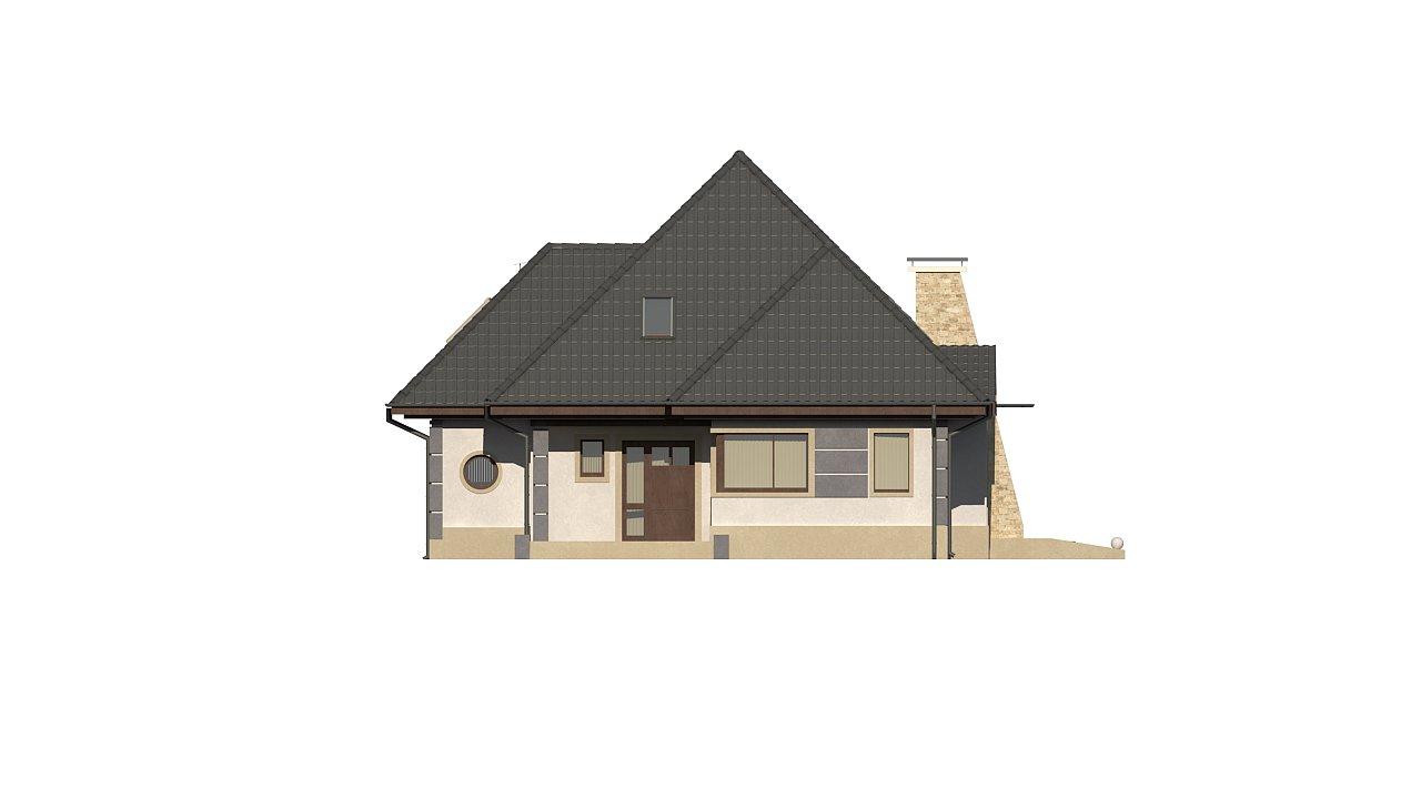 Вариант мансардного дома Z48 без гаража - фото 4