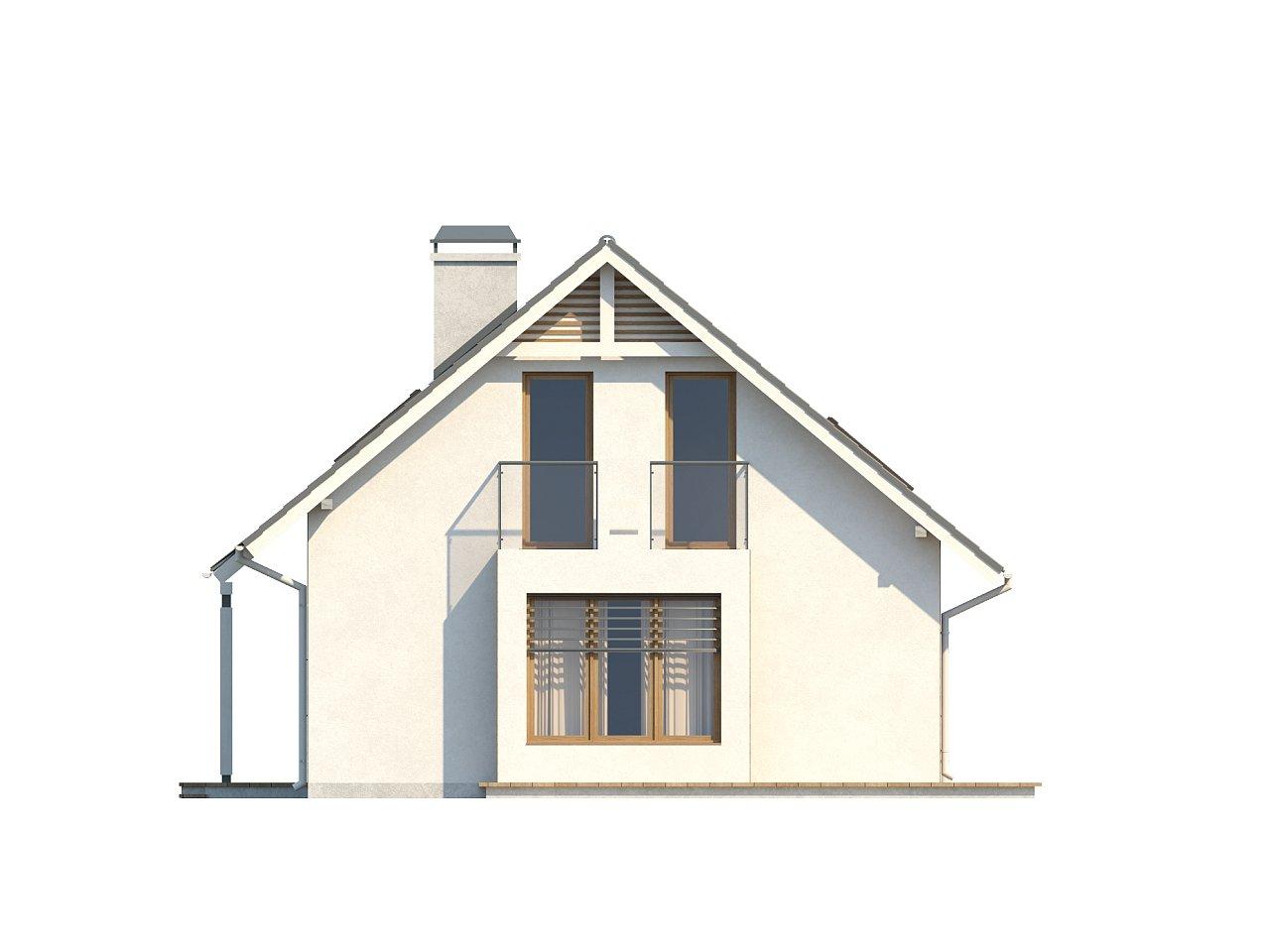 Небольшой дом с дополнительной комнатой на первом этаже, большим хозяйственным помещением и эркером в столовой. 23