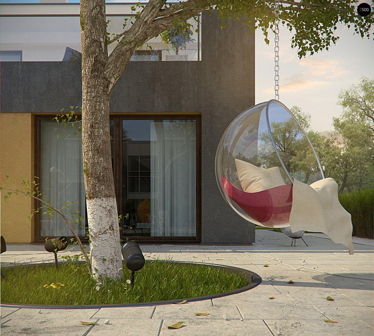 Дом характерного современного дизайна с гаражом и кабинетом на первом этаже. - фото 20