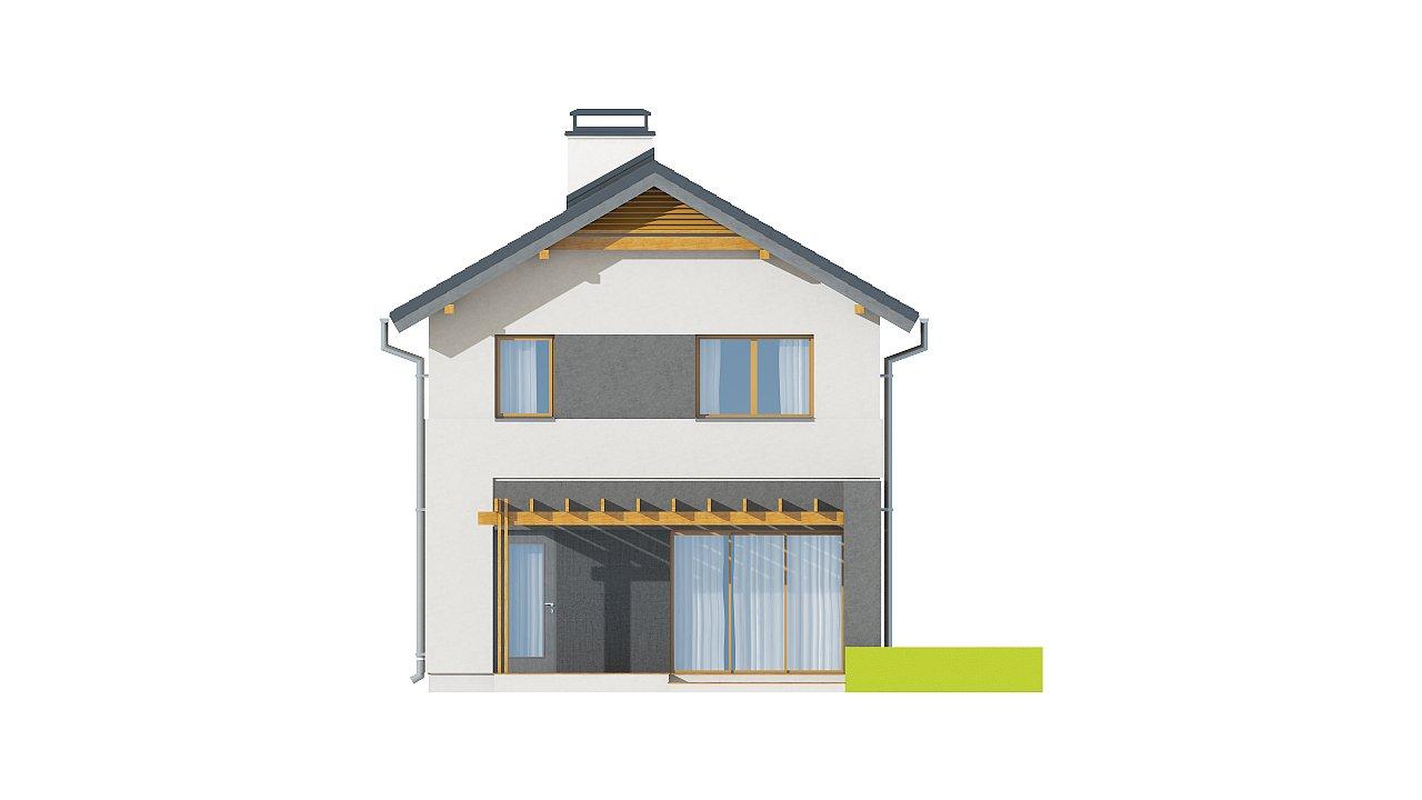 Небольшой двухэтажный дом с современными архитектурными элементами, подходящий для узкого участка. - фото 24