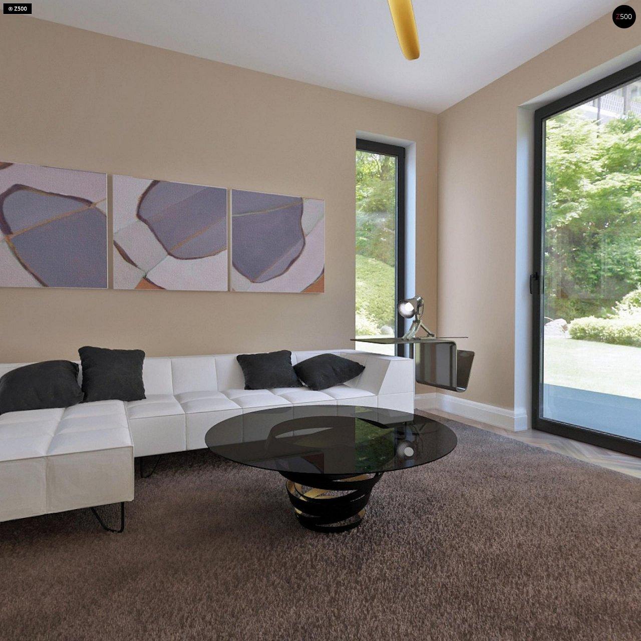 Аккуратный дом простой традиционной формы с гаражом и дополнительной спальней на первом этаже. 8