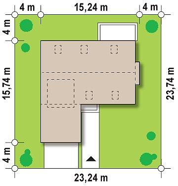 Элегантный просторный дом современного дизайна с пятью спальнями и террасой на втором этаже. план помещений 1