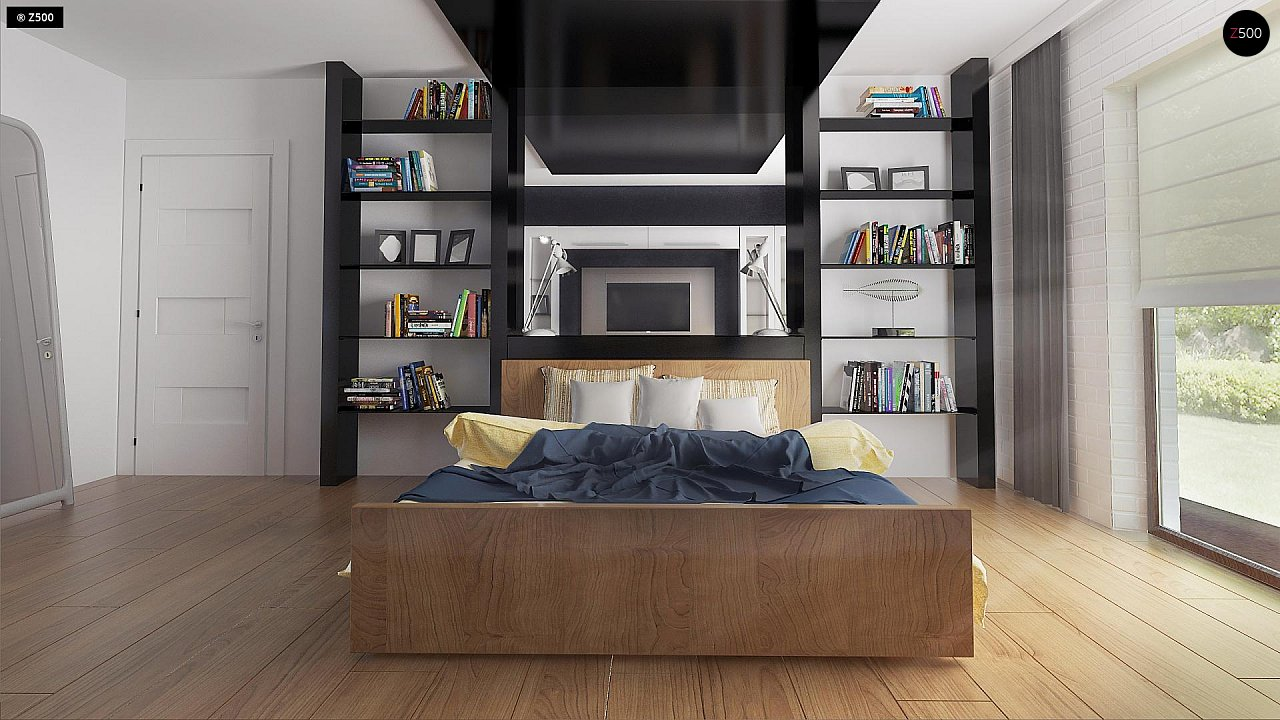 Одноэтажный комфортный дом в стиле хай-тек. 20
