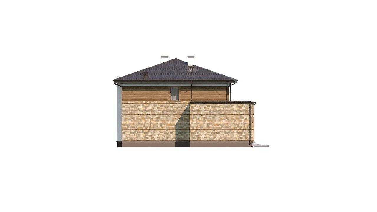 Проект двухэтажного дома с гаражом для двух авто, с баней - фото 8