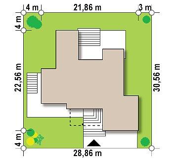 Современный проект с уникальным дизайном, оштукатуренным фасадом и гаражом план помещений 1