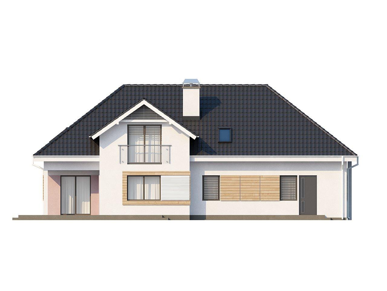 Комфортный стильный дом с большим гаражом для двух автомобилей и дополнительной комнатой над ним. 5