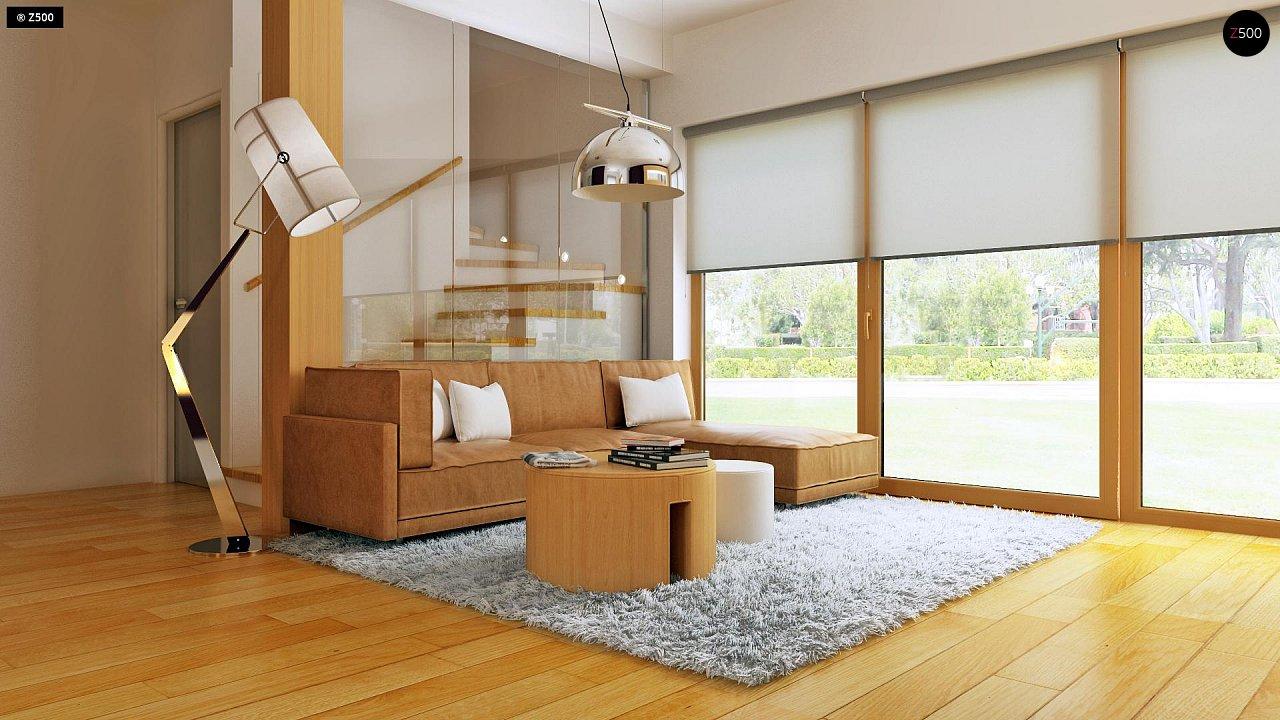 Практичный дом для небольшого участка, простой в строительстве, дешевый в эксплуатации. 4