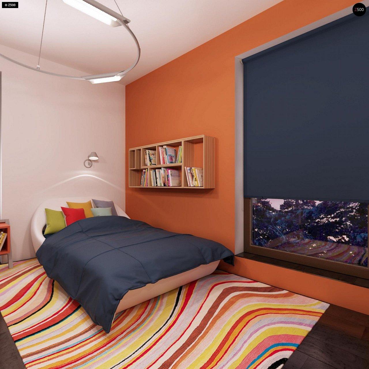 Дом характерного современного дизайна с гаражом и кабинетом на первом этаже. - фото 39