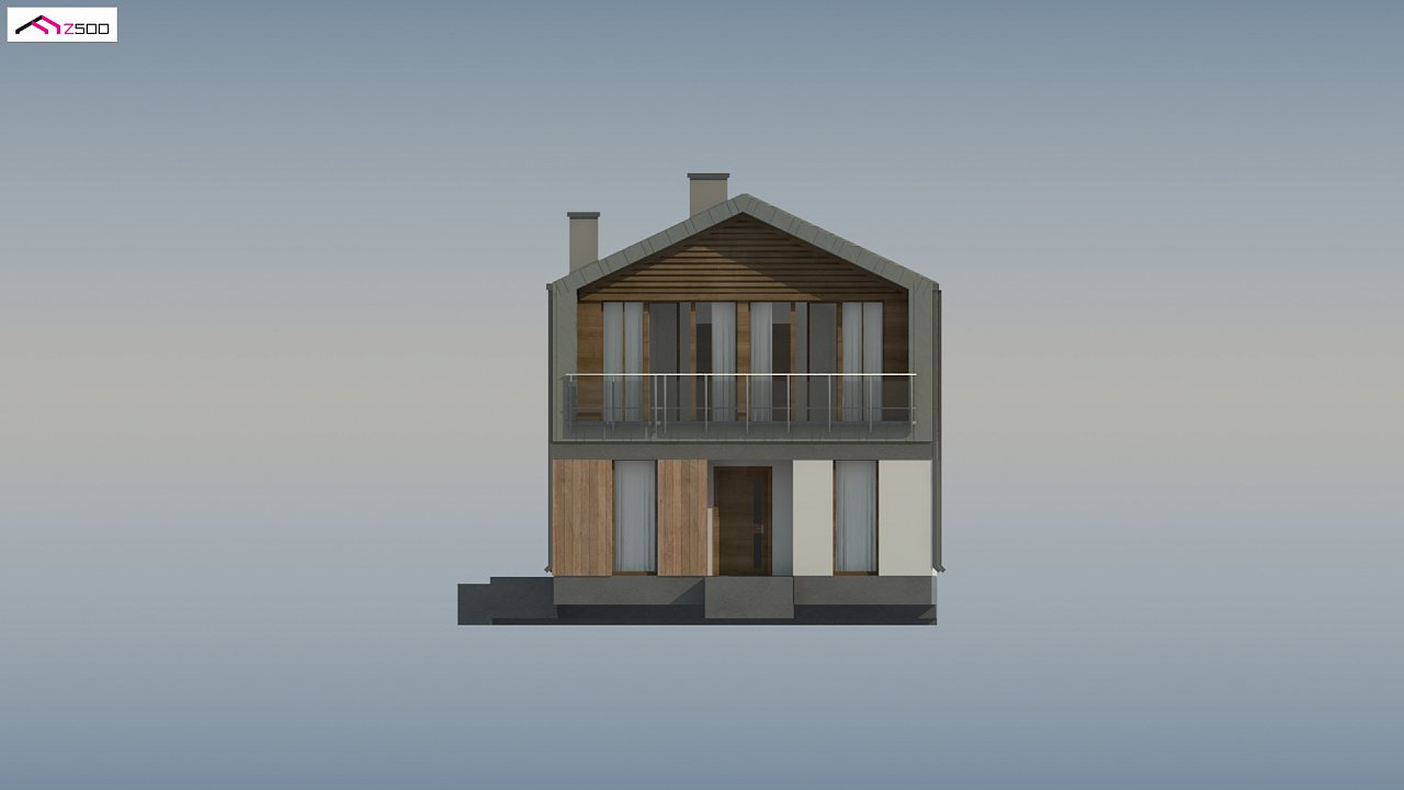 Двухэтажный коттедж в европейском стиле с комнатой на первом этаже. 8