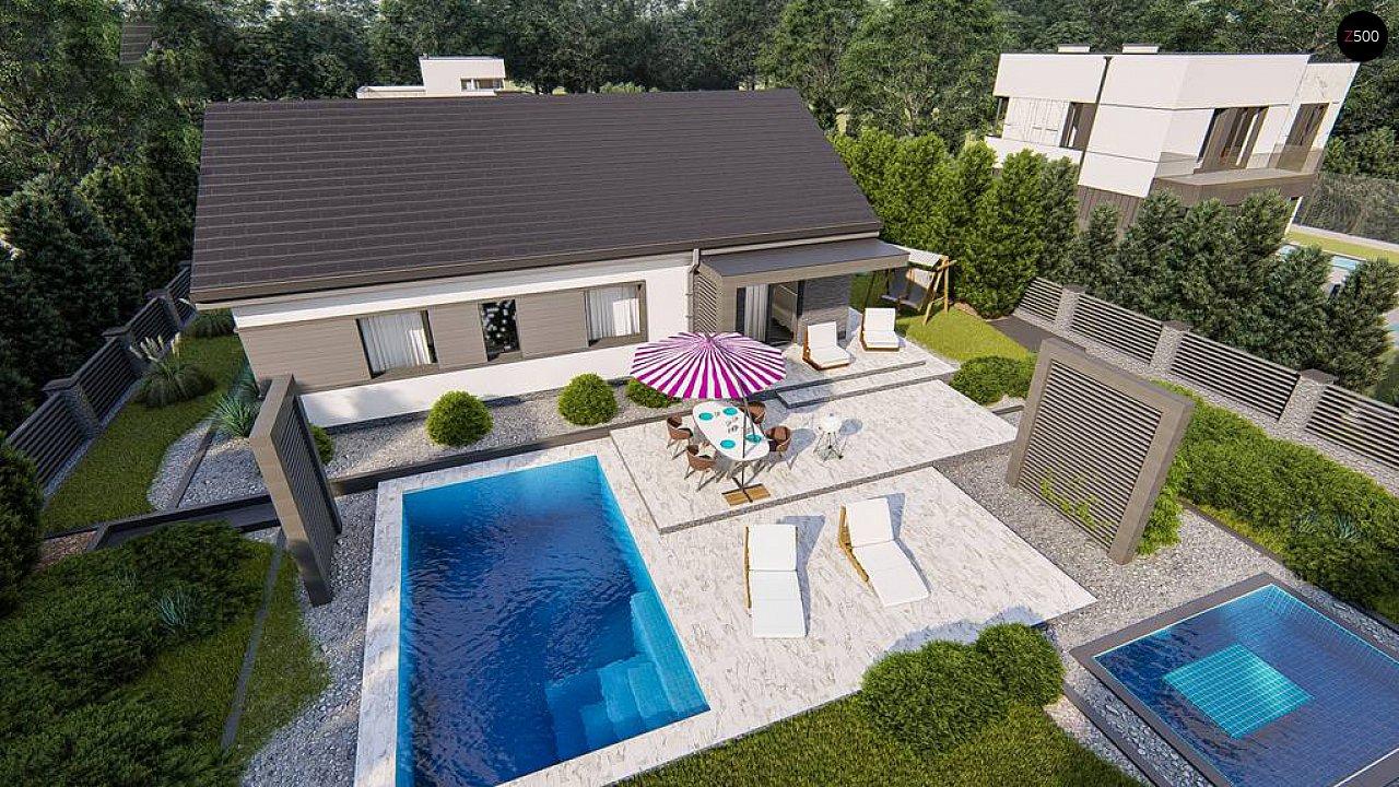 Классический одноэтажный дом с двускатной крышей 6