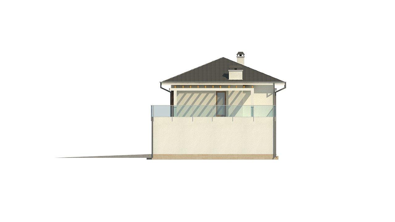 Увеличенная версия проекта современного дома Zx63 B 36