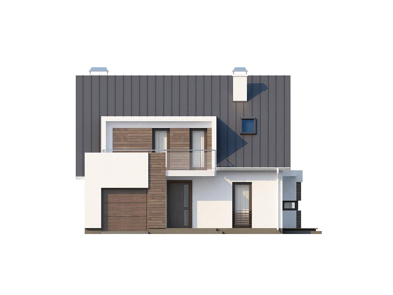 Стильный комфортный дом современного дизайна со встроенным гаражом. 3