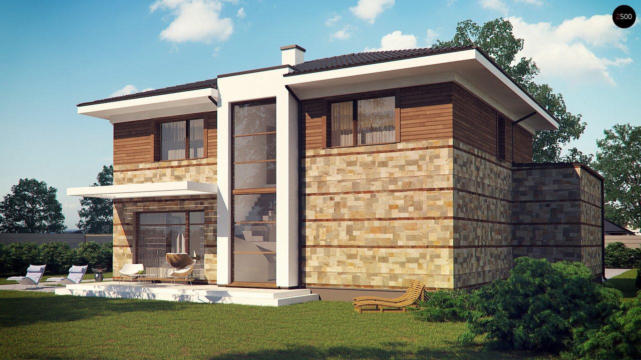 Проект двухэтажного дома с гаражом для двух авто, с баней - фото 5